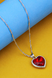 Women's Alloy Pendant in Red