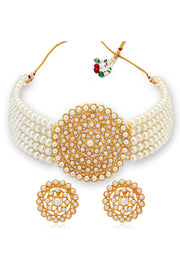 Women's Alloy Necklace Set in White