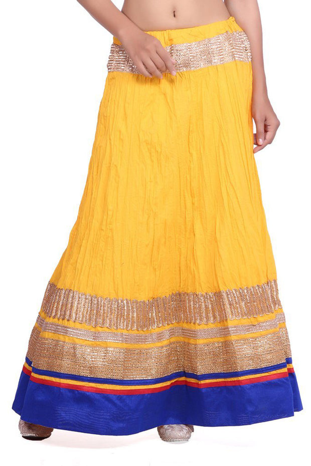 Blended Cotton Skirt in Yellow