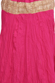 Blended Cotton Skirt in Pink