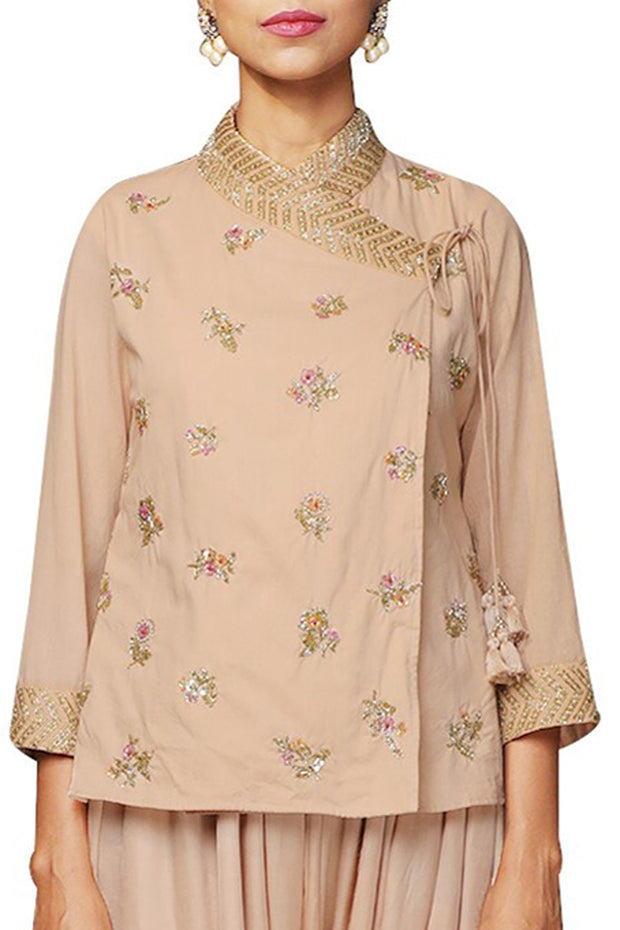 Blended Cotton  Kurta Set in Pink