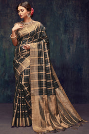 Art Silk Zari Saree in Black