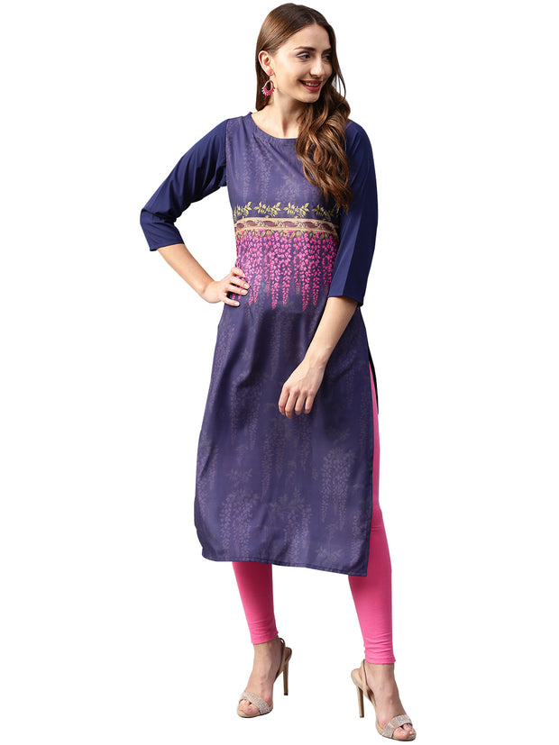 Trend Factory Polyester Kurta in Blue