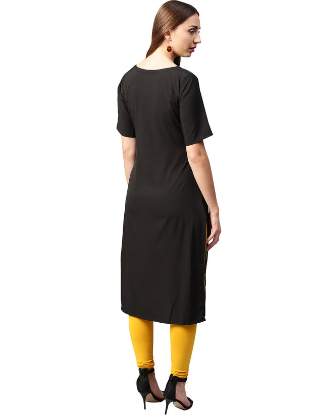 Trend Factory Polyester Kurta in Black