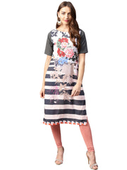 Trend Factory Polyester Multicolored Kurta