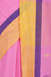 Cotton Handloom Saree in Pink
