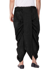 Men's Cotton Art Silk Solid Dhoti Pant in Black