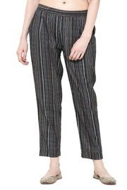 Pure Cotton Printed Pant in Black