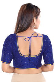 Art Silk Padded Blouse in Royal Blue