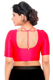 Art Silk Padded Blouse in Pink