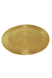 Beads Coaster Golden - Set of 1