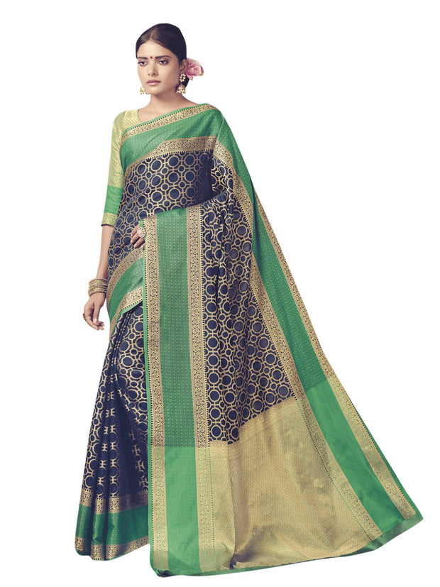 Women's Banarasi Saree in Blue