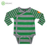 PRICE DROP * Villervalla - Wrap Body Suit - Stripes - Clover