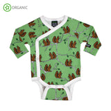 Villervalla - Wrap Body Suit - Squirrels - Clover
