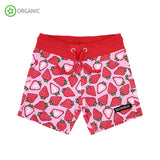 Villervalla - Relaxed Shorts - Fruit Print - Strawberry