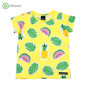 PRICE DROP * Villervalla - SS Tee - Tropical Fruits - Lemonade