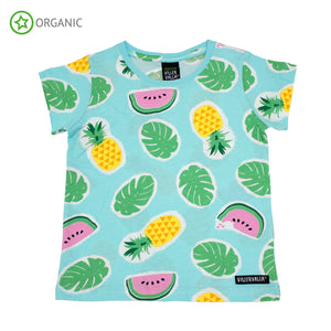 PRICE DROP * Villervalla - SS Tee - Tropical Fruits - Light Bay