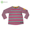 Villervalla - Relaxed LS Tee - Striped - Smoothie
