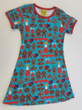 Duns Sweden SS dress - Turquoise Gingerbread ** LAST ONE sz 98
