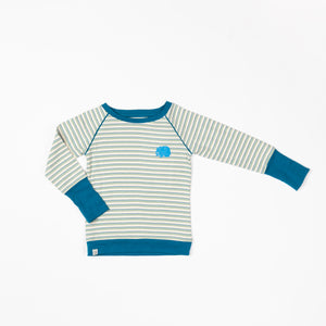 Alba - Henrik LS tee - Seaport Blue Stripe