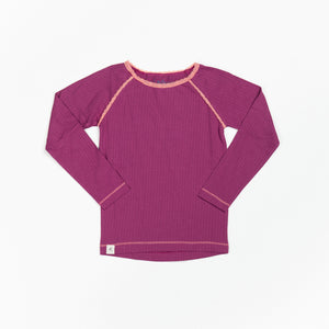 PRICE DROP * Alba - Ghita LS tee -  Boysenberry Adorable