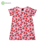 Villervalla - SS Dress - Fruit Print - Strawberry