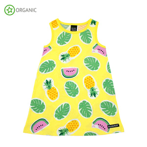 PRICE DROP * Villervalla - Sleeveless Dress - Tropical Fruits - Lemonade