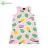 Villervalla - Sleeveless Dress - Tropical Fruits - Light Azalea