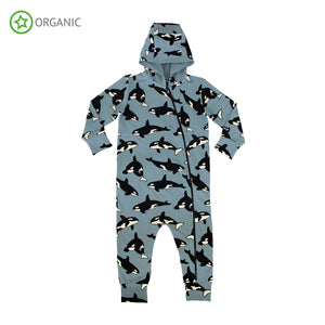 Villervalla - Onesie with Hood - Animal Print - Whale