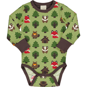 Maxomorra - LS Bodysuit - Green Forest
