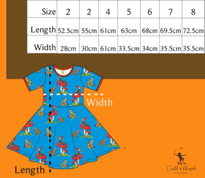 Coddi & Womple - SS Twirl Dress - Basil the Curious Gnome