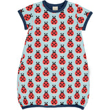 Maxomorra - SS Bubble Dress - Lazy Ladybird ** LAST ONE sz 110/116cm