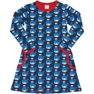 Maxomorra - LS Dress - Whale