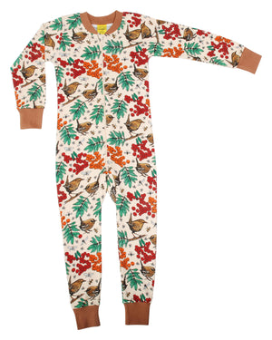 Duns Sweden Zip Suit - Rowanberry - Mother of Pearl
