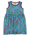 Duns Sweden - Sleeveless Gathered Dress - Willowherb - Blue