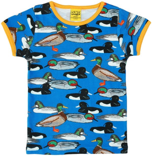 Duns Sweden SS tee - Duck Pond - Blue