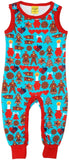 Duns Sweden Dungarees - Gingerbread - Turquoise