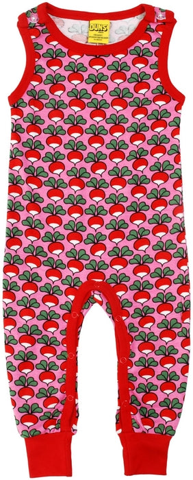 Duns Sweden Dungarees - Radishes - Pink **LAST ONE Sz 92cm