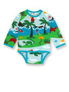 PRICE DROP * JNY - L/S Body Suit - Dolphin Island ** LAST ONE SZ 80