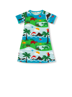 PRICE DROP * JNY - S/S Dress - Dolphin Island