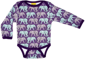 Duns Sweden LS body suit - Elephant Walk - Purple ** LAST ONE SIZE 80