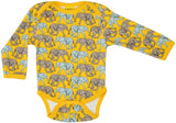 Duns Sweden LS body suit - Elephant Walk - Yellow