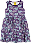 Duns Sweden Sleeveless Dress with Gathered Skirt - Elephant Walk - Purple