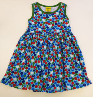 Duns Sweden Sleeveless Dress with Gathered Skirt - Blueberry - Blue