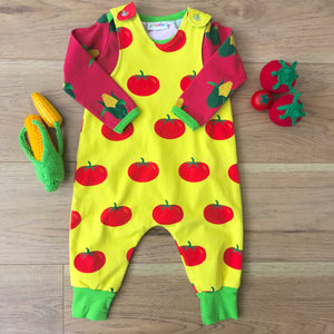 pikolo - Lined Dungarees - Tomato
