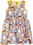 Duns Sweden Sleeveless Dress with Gathered Skirt - Ice Cream - Lavender