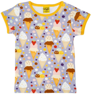 Duns Sweden SS Tee - Ice Cream - Lavender