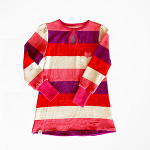 Alba - Inge Dress - Wild Aster Love Stripe