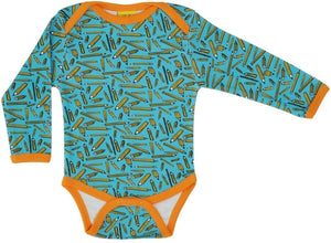PRICE DROP * Duns Sweden LS body suit - Pencils - Turquoise
