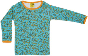 PRICE DROP * Duns Sweden LS tee - Pencils - Turquoise